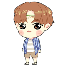 J-Hope - Hobi [summer] shimeji preview