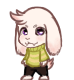 Asriel shimeji preview